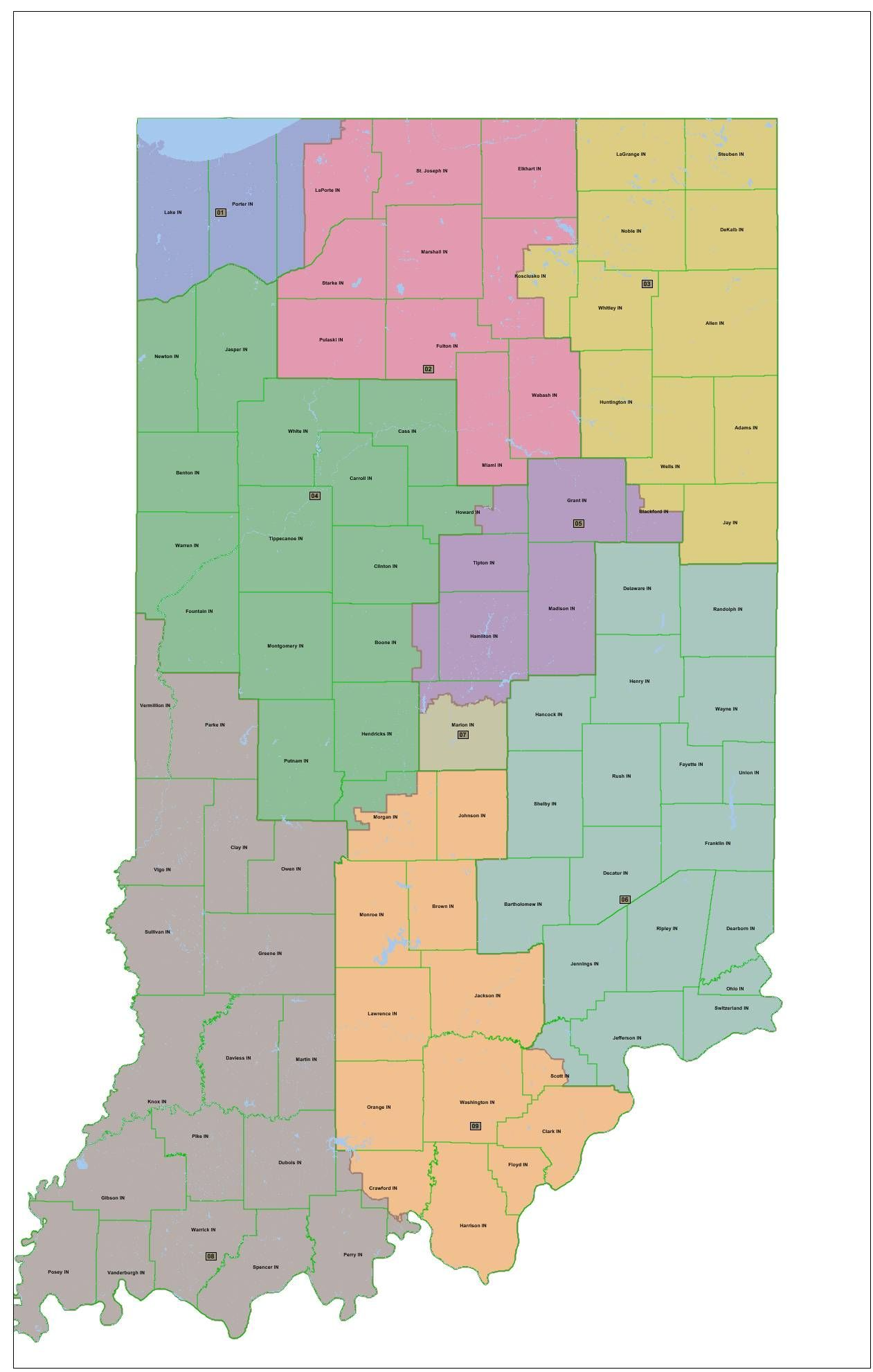 Indiana Redistricting Maps Presented  WKVI Information Center