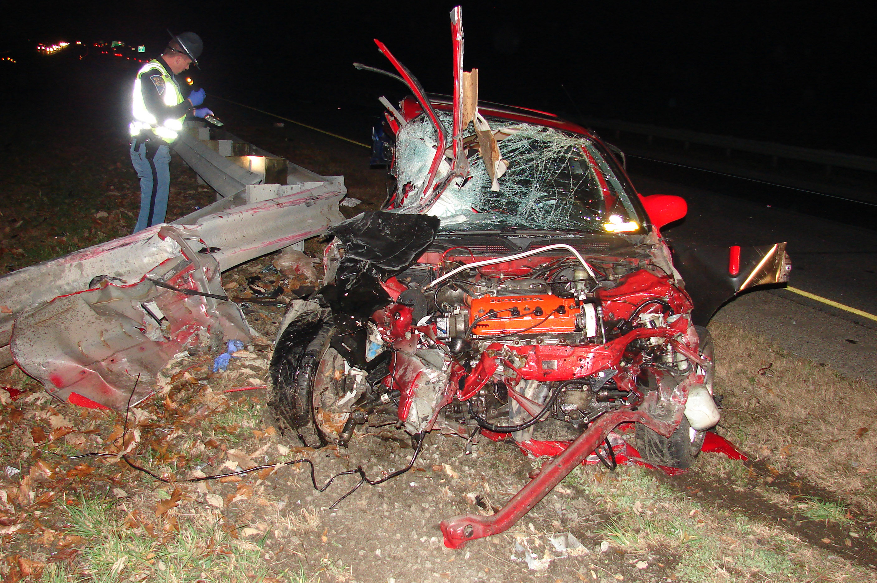 Related Pictures fatal car crash pictures the single car accident