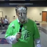 Tom Berg gets a pie in the face!