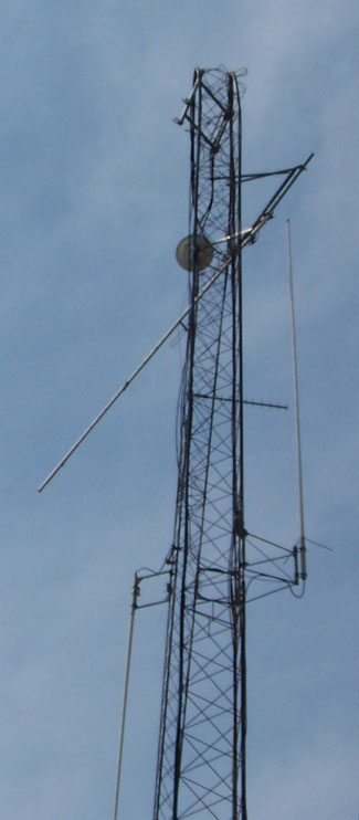 Damaged Starke County Sheriff's Department tower