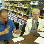 Tom Berg and Joan Haugh discuss the need at the food pantry on the air