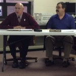 Eastern Pulaski Schools Superintendent Dr. Robert Klitzman and school board president Mike Tetzloff