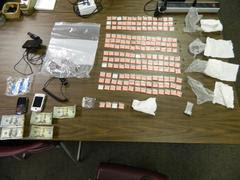 State Police reportedly recovered 136 baggies of heroin from Kelly A. Koranda, 36 of Logansport, at IU Health Starke Hospital.