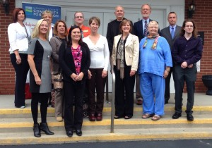 Marshall County Community Foundation officials and grant recipients