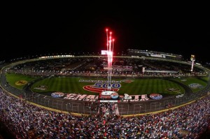 A general view during pre-race ceremonies prior to the NASCAR Sprint Cup Series Bank of America 500 at Charlotte Motor Speedway on October 11, 2014 in Charlotte, North Carolina.  Photo by Streeter Lecka/Getty Images