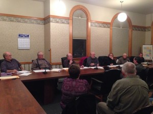 Nathan Origer talks to the county council