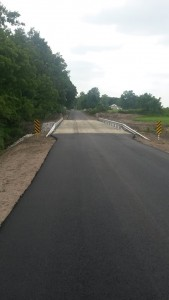 The new bridge on 450 South between Range Road and 100 West  is now open to traffic.