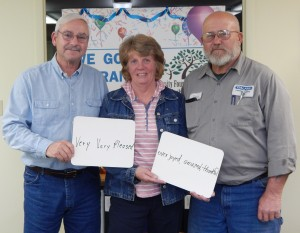 Friends of Tippecanoe River State Park member Mike Schultz, secretary Cindy Schultz and vice president John Wheeler Sr.