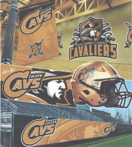 Potential uses of Culver Community Schools' new logos.