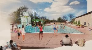 Rendering of rebuilt Winamac pool.